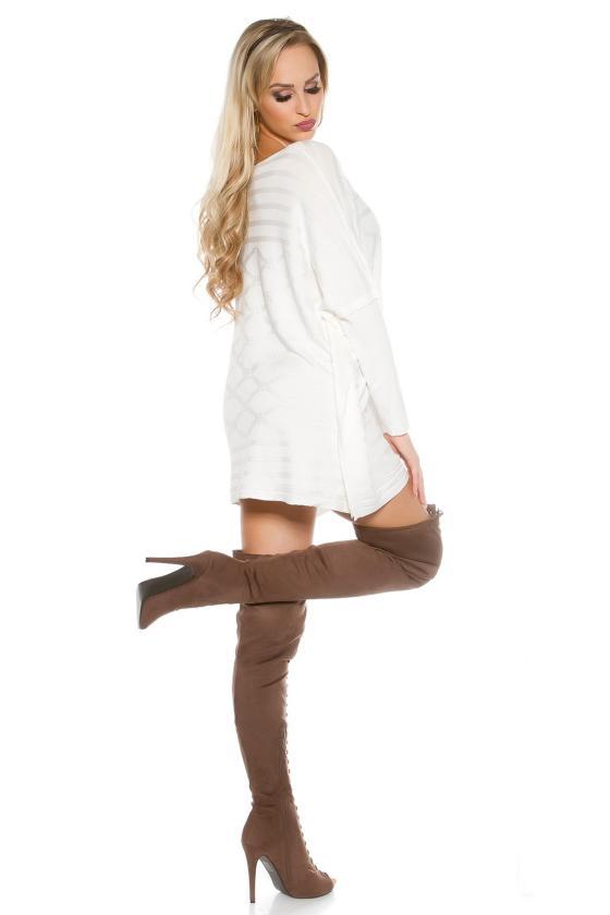 Rausvos spalvos veliūrinė suknelė CARMEN_156636