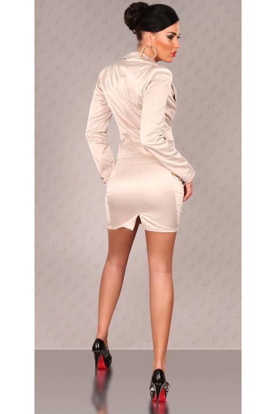 Juodos spalvos veliūrinė suknelė CARMEN_156642