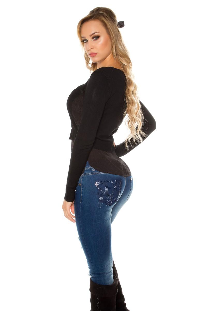Juodos spalvos trumpa suknelė 118-5_158628
