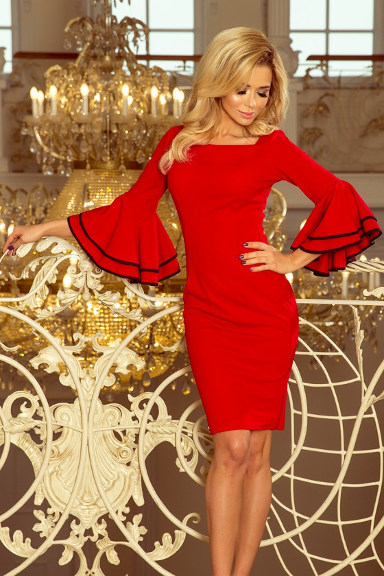 Raudonos spalvos suknelė CARMEN