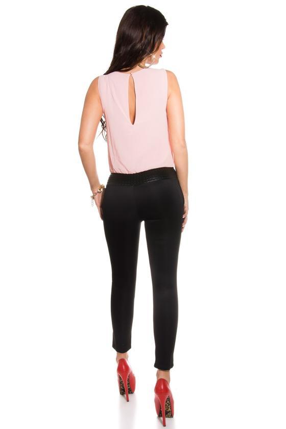 Juodos spalvos peplum suknelė_158758