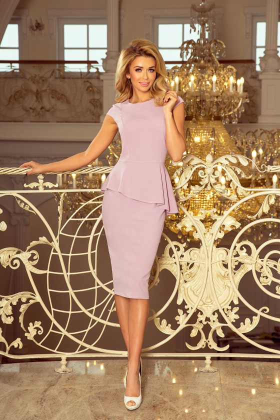 Rausvos spalvos peplum suknelė_158775