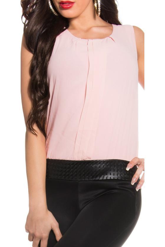 Raudonos spalvos peplum suknelė_158783