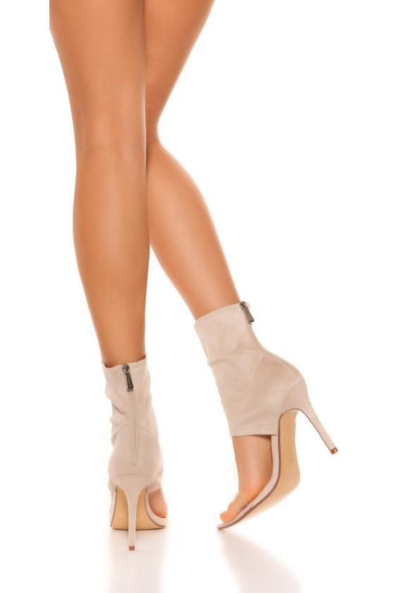 Raudona eko zomšos peplum suknelė