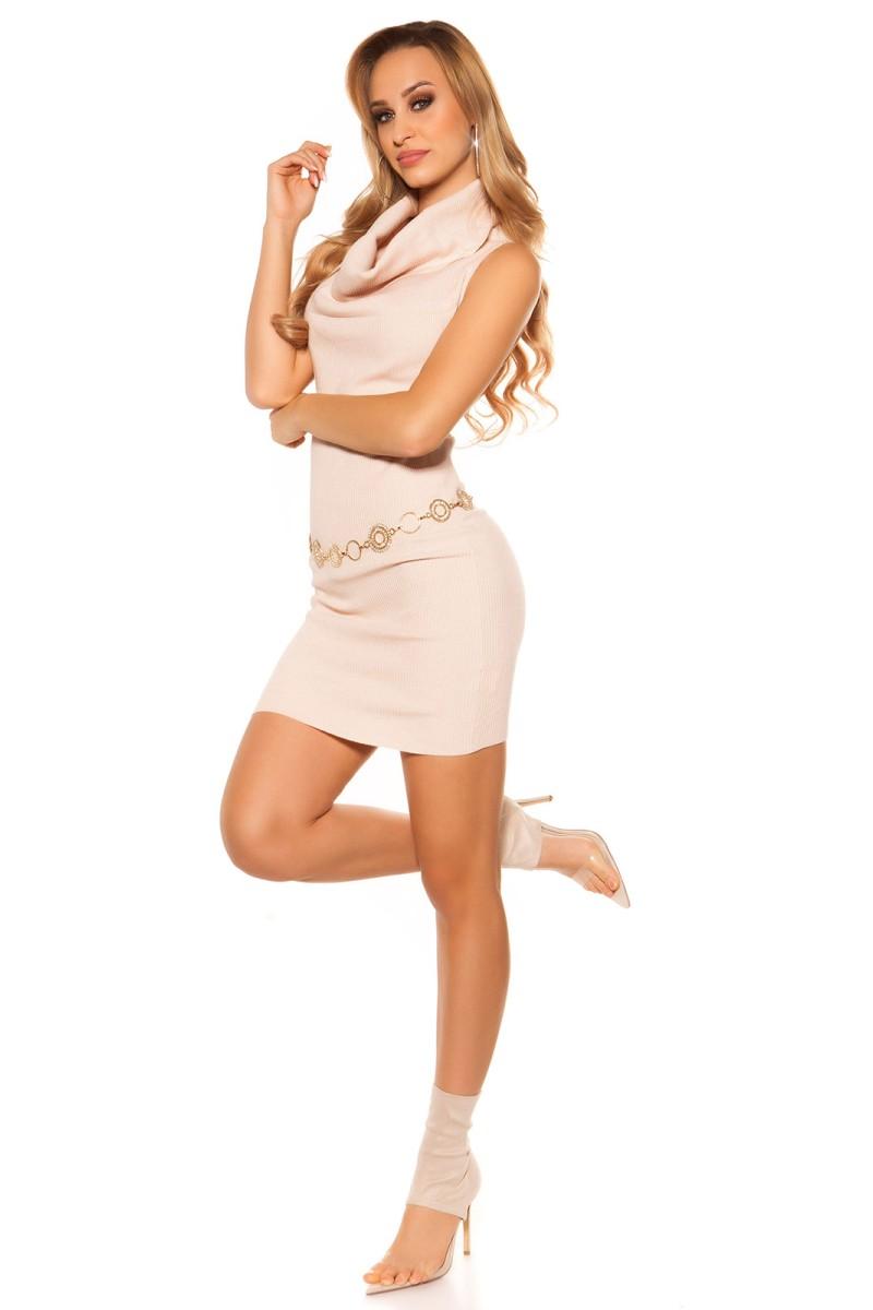 """Leopardo rašto suknelė su raukiniai """"ROMI""""_158848"""