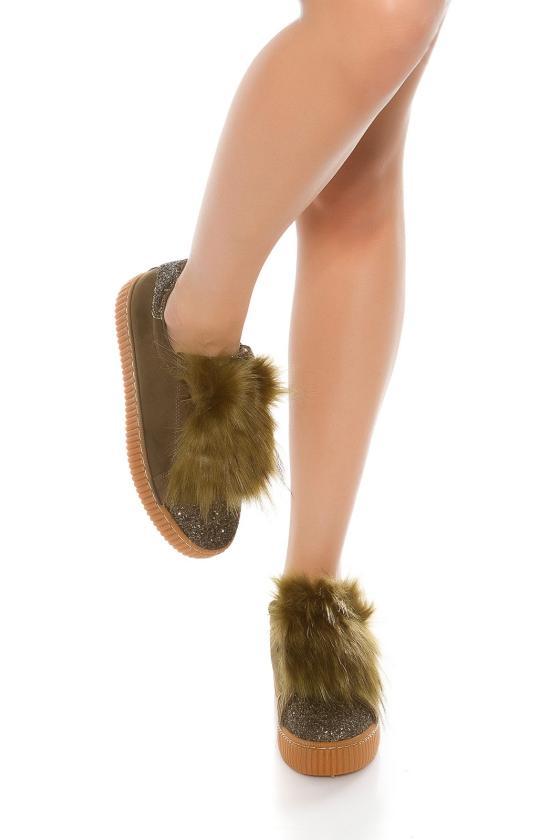 Žalios spalvos trumpa suknelė CAROLINE