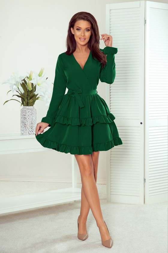 Žalios spalvos trumpa suknelė CAROLINE_158858
