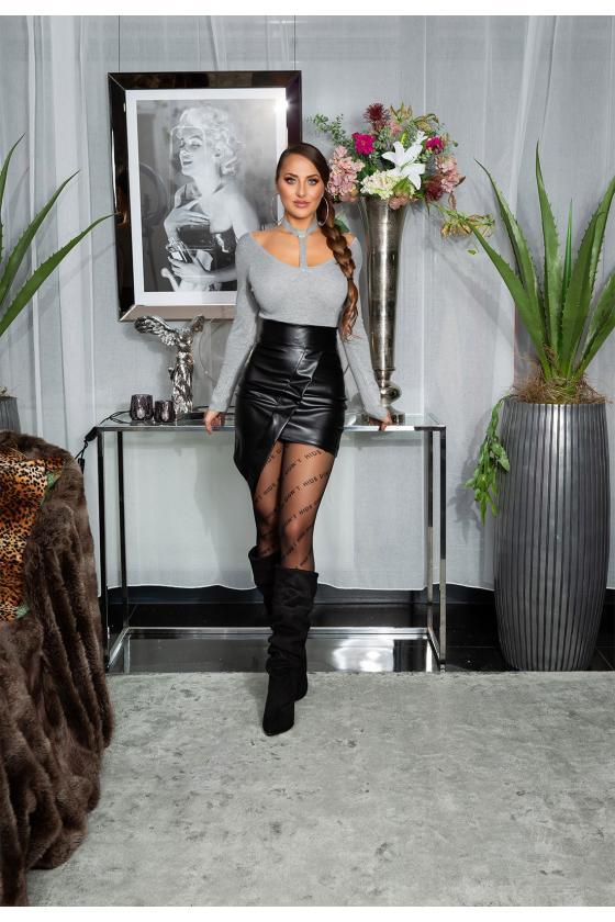 Mėlynos spalvos peplum suknelė