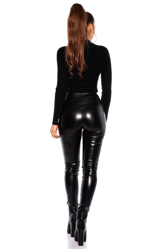 Raudonos spalvos šifoninė suknelė LAUREN_165629
