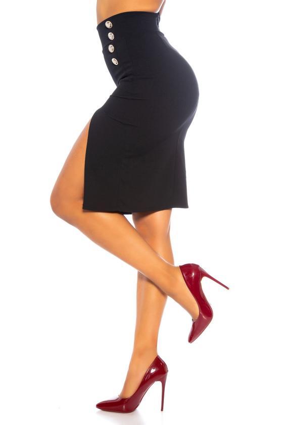 Raudonos spalvos šifoninė suknelė LAUREN