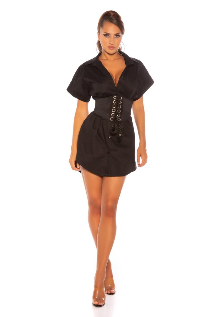 Mėlynos spalvos šifoninė suknelė LAUREN_165641