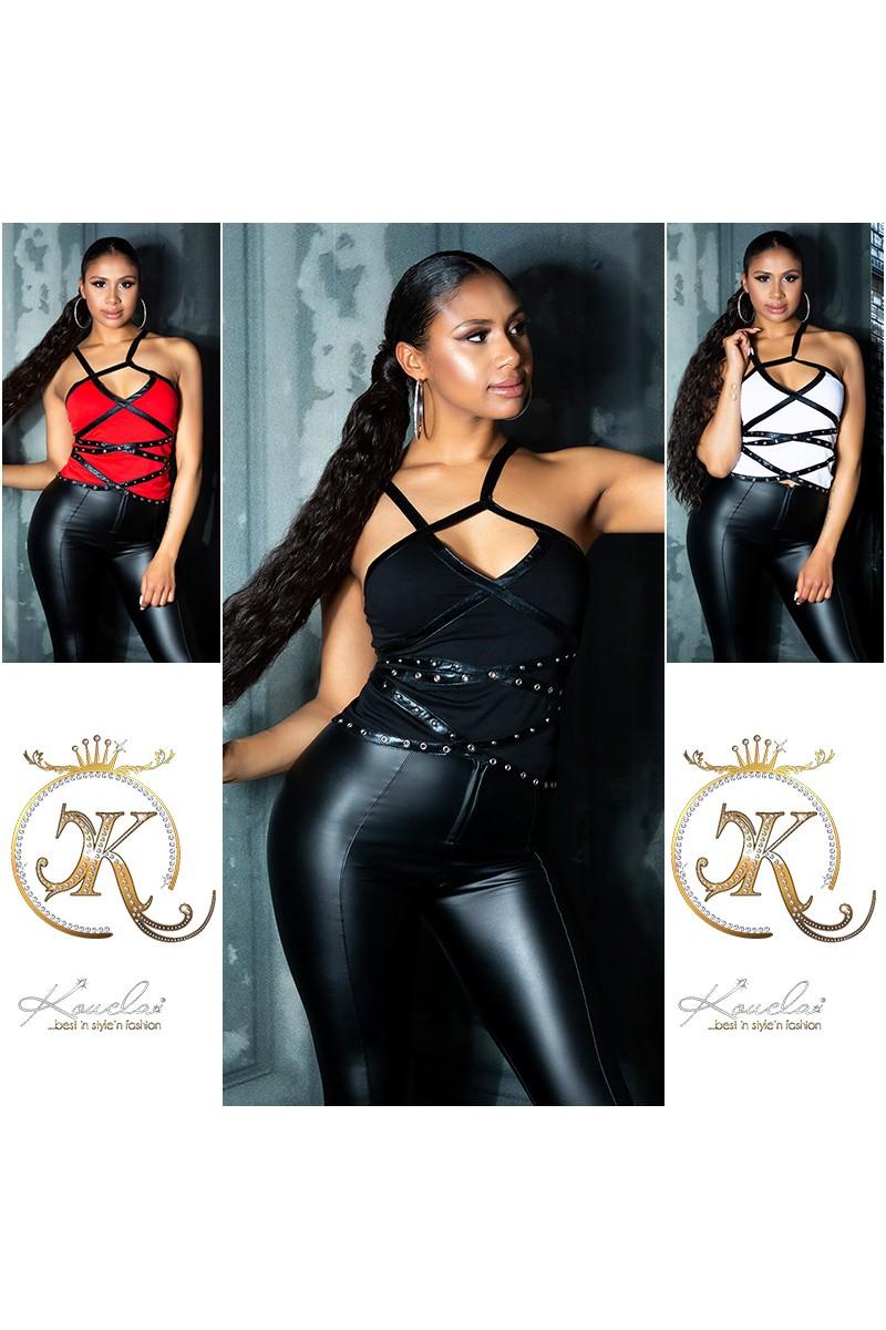 Raudonos spalvos šifoninė suknelė 332-2_165646