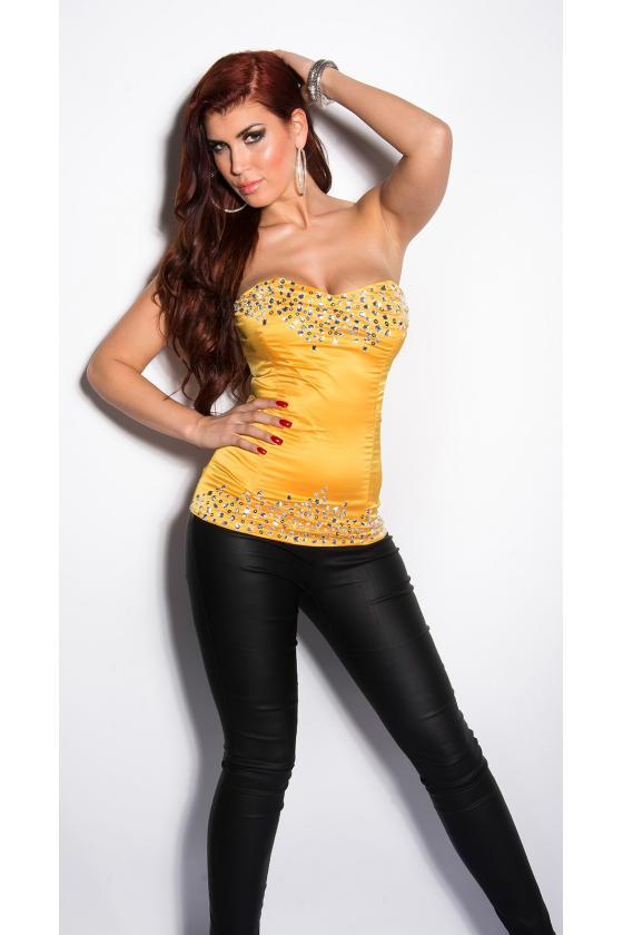 Raudonos spalvos odos imitacijos suknelė