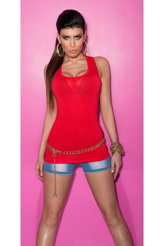 Raudonos spalvos mini suknelė_165852