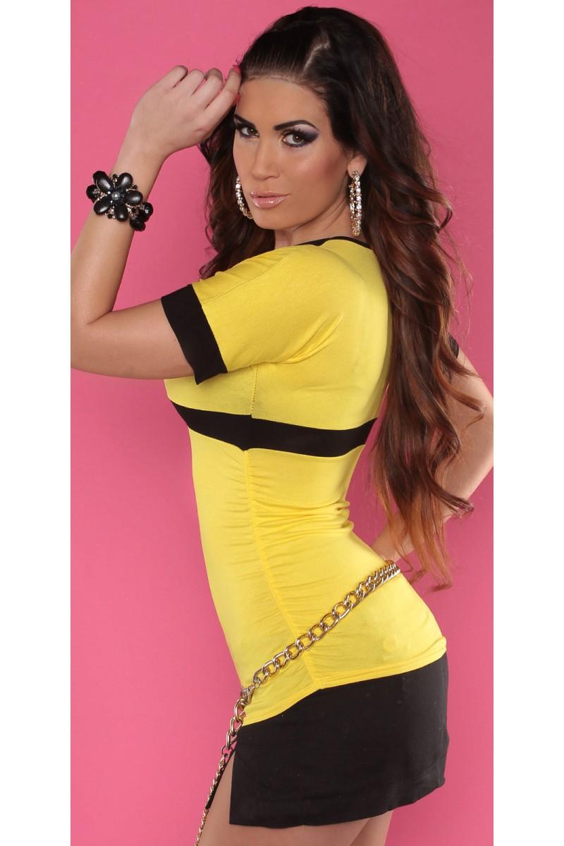Juodos spalvos midi ilgio suknelė_166086