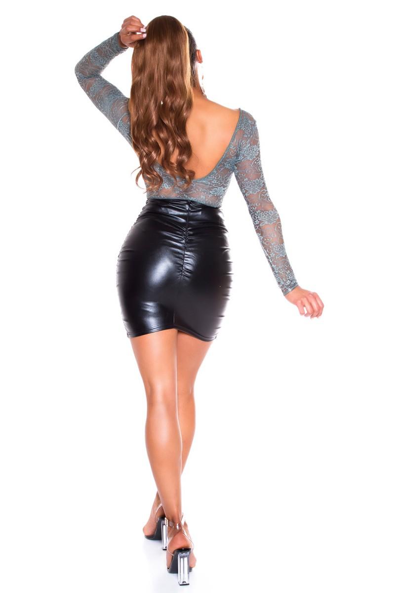 Juodos spalvos midi ilgio suknelė_166087