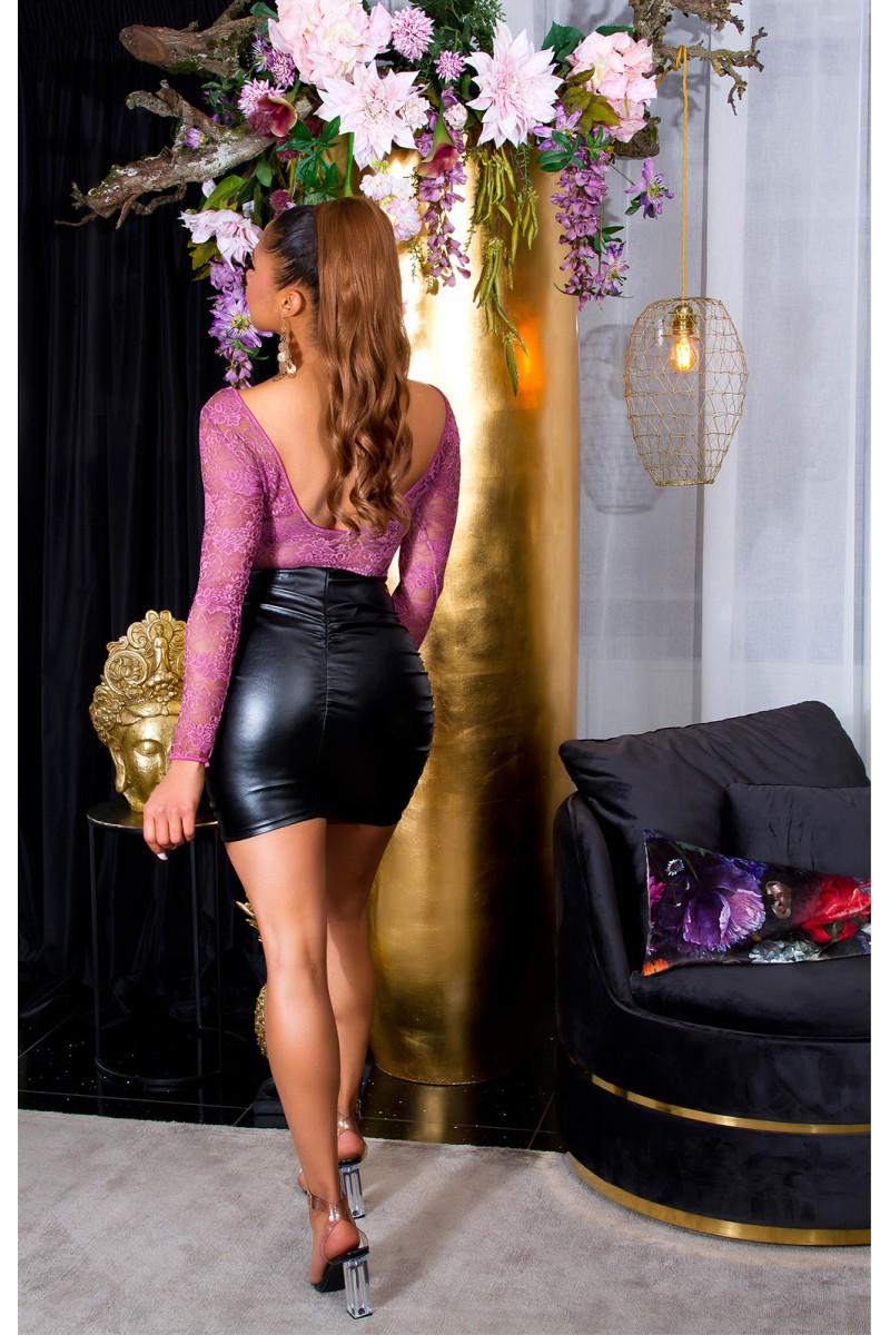 Žalios spalvos šifoninė suknelė LAUREN