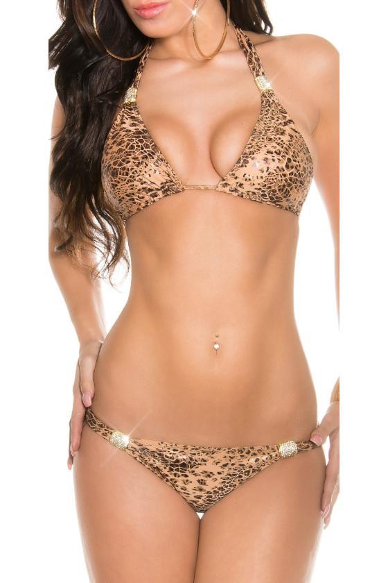 Bronzos spalvos velveto imitacijos suknelė_167005