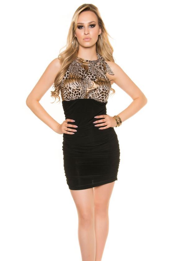 Žalios spalvos velveto imitacijos suknelė