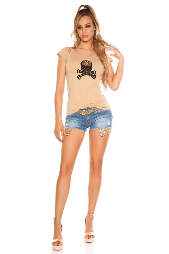 Smėlio spalvos gyvatės rašto suknelė