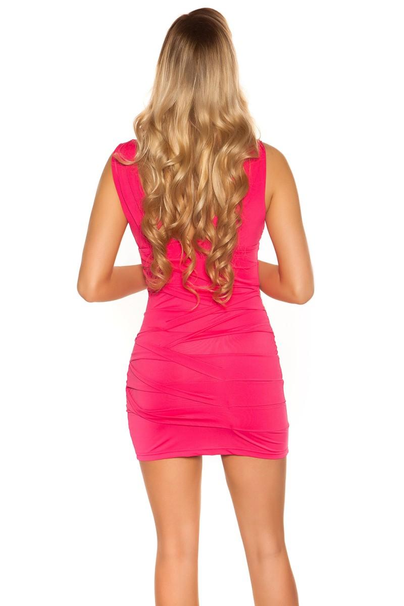 Aukso spalvos satino imitacijos suknelė_169132