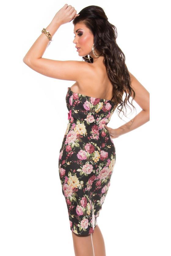Bronzos spalvos satino imitacijos suknelė_169147