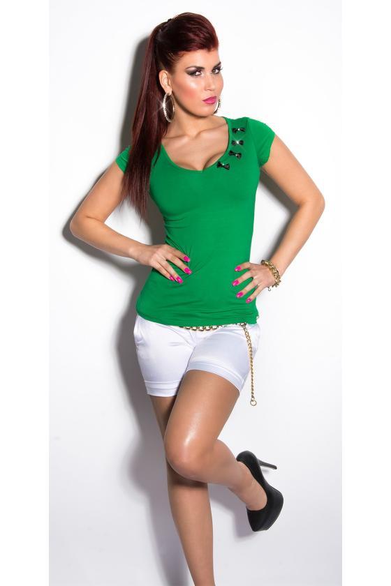 Žalios spalvos satino imitacijos mini suknelė_169214