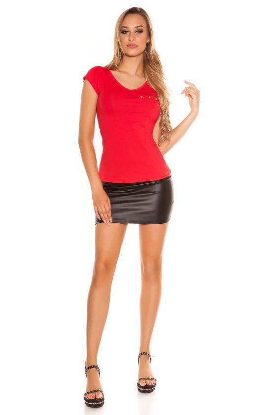 Bordinės spalvos satino imitacijos suknelė