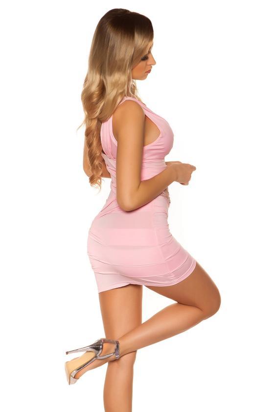 Šilta violetinės spalvos tunika su gobtuvu