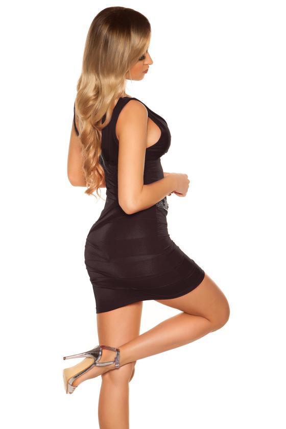 Bordinė laisvalaikio suknelė su diželiu_170355