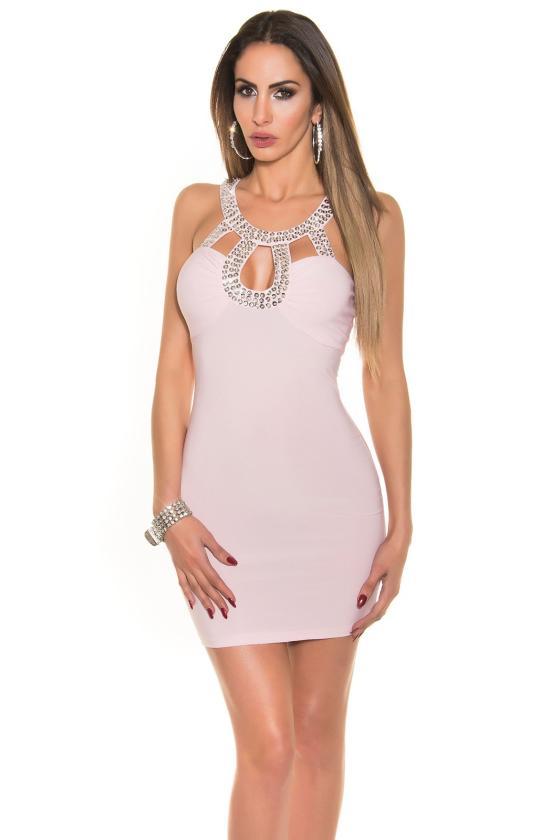 Indigo spalvos laisvalaikio suknelė su diželiu_170364