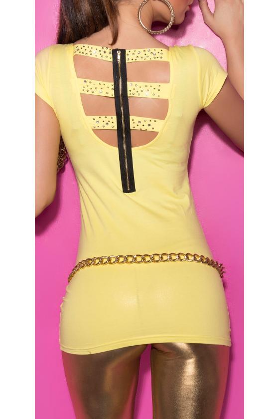 Indigo spalvos laisvalaikio suknelė su diželiu_170366