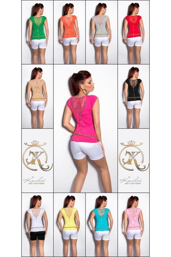 Raudona laisvalaikio suknelė su diželiu_170370