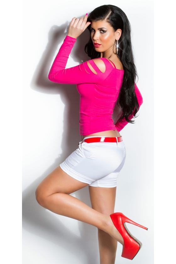 Raudona laisvalaikio suknelė su kišenėmis_170378