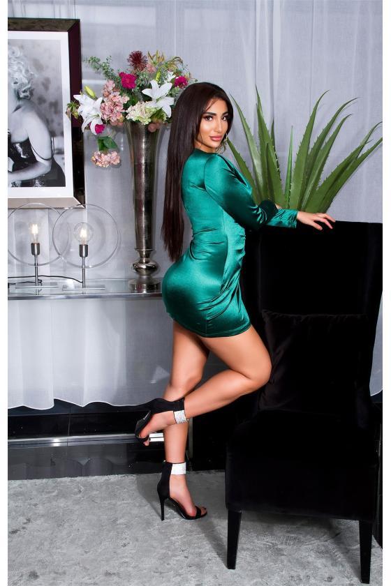 Koralinė laisvalaikio suknelė su kišenėmis_170381