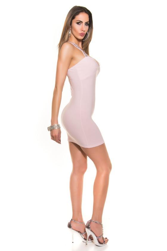 Elegantiška juoda vidutinio ilgio suknelė_170389