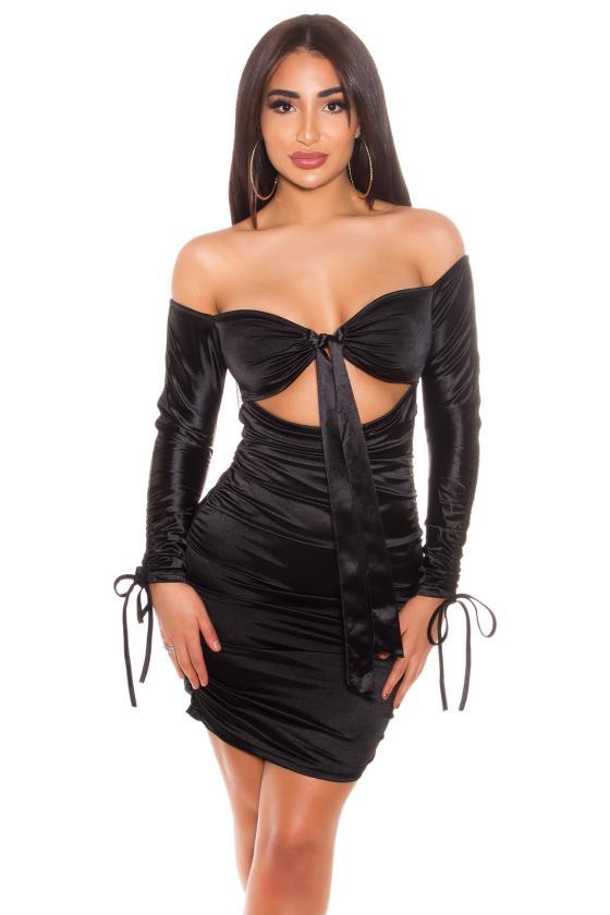 Juoda midi ilgio suknelė HARPER_170702