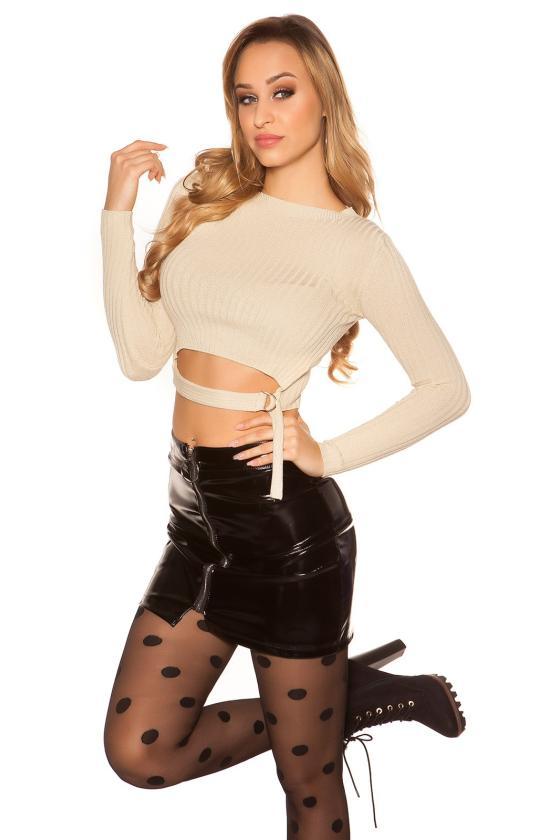 Garstyčių spalvos Carmen stiliaus suknelė_171077