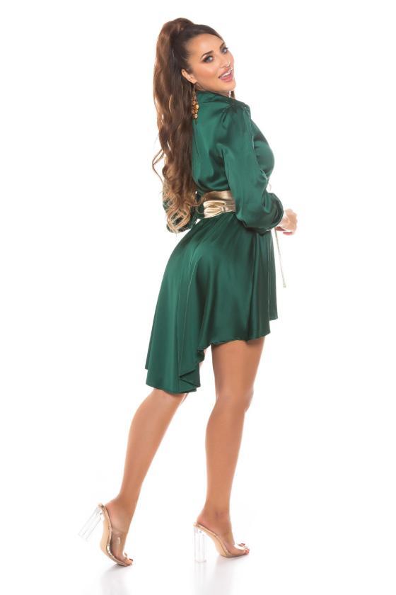 Juodos spalvos Carmen stiliaus suknelė