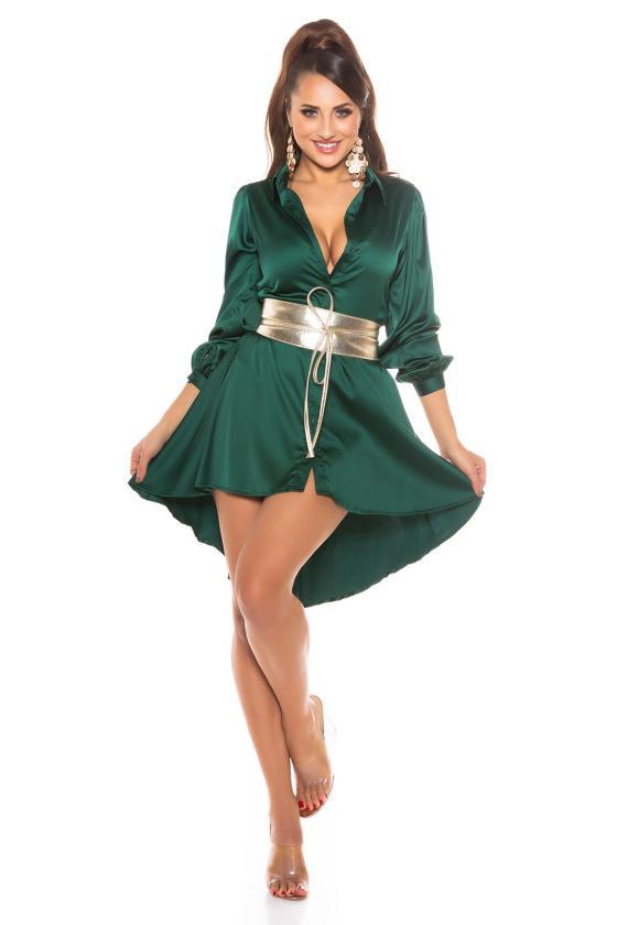 Raudonas mini sijonas su sagutėmis