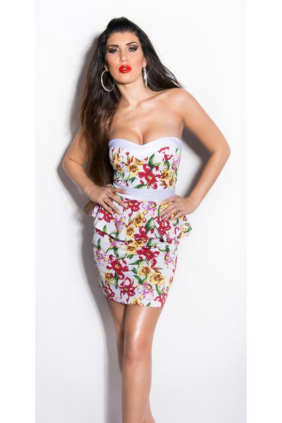 Pilkos spalvos megzta suknelė atvirais pečiais_171172