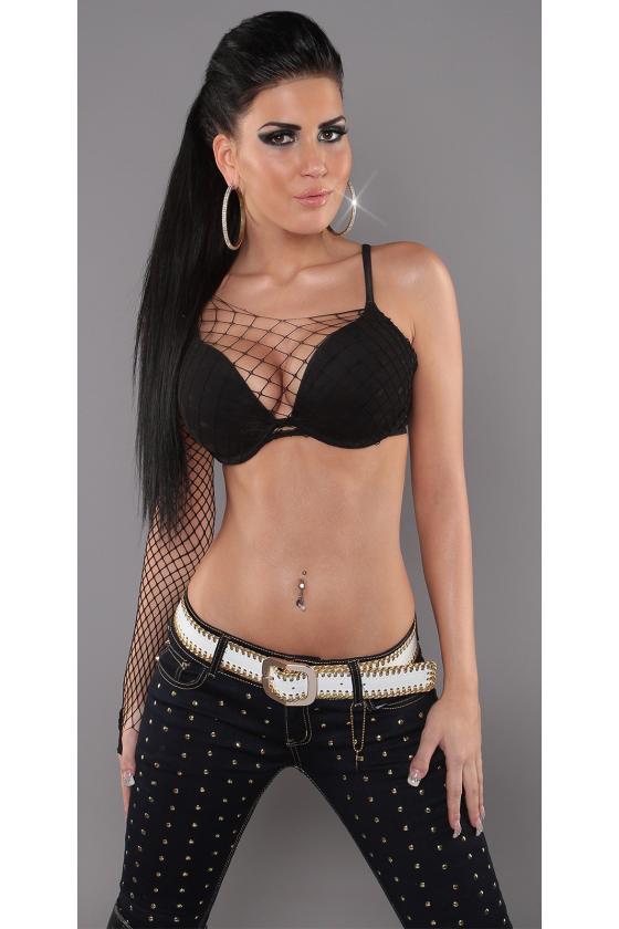 Raudonos spalvos megzta suknelė atvirais pečiais_171178