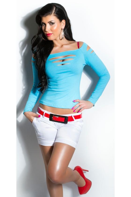 Pilkos spalvos suknelė dekoruota korsetu_171182