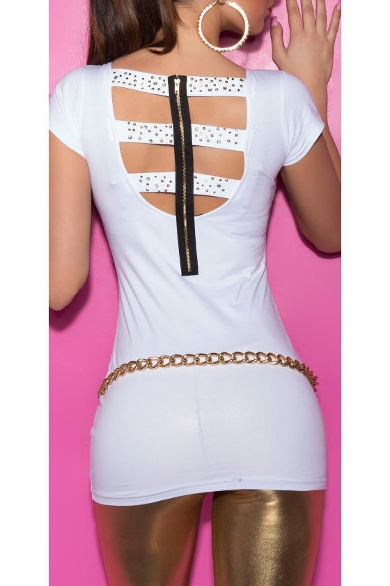 Pilkos spalvos suknelė dekoruota korsetu_171184
