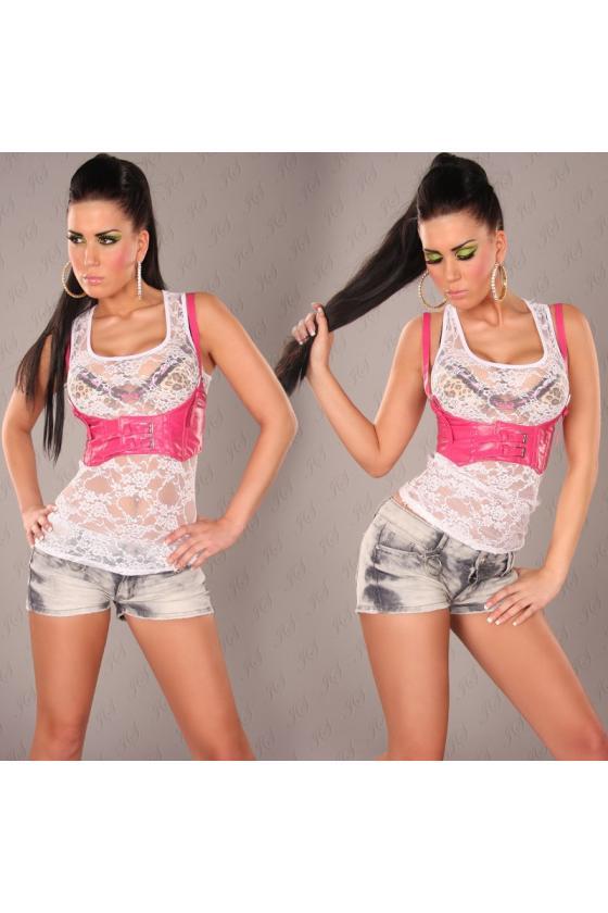 Tamsiai mėlynos spalvos suknelė dekoruota korsetu_171190