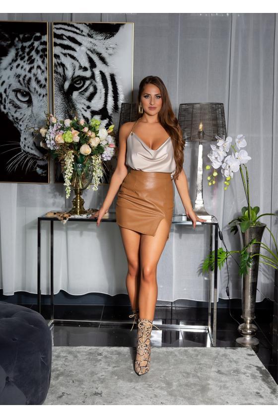 Geltonos spalvos megzta suknelė_171292