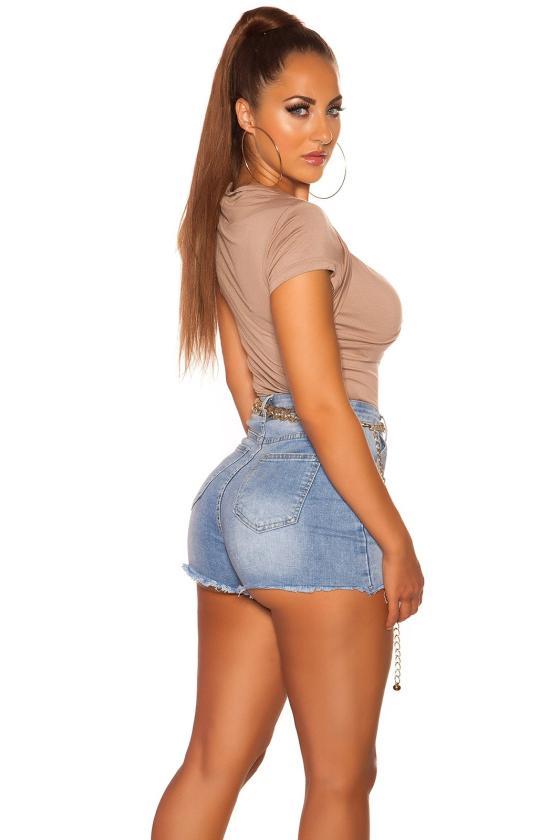 Raudonos spalvos sijonas su praskiepu_171319