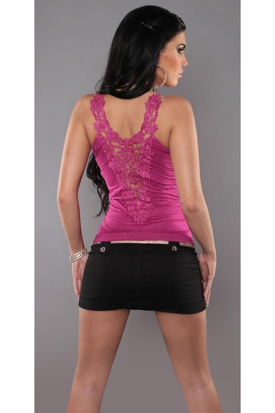 Alyvų spalvos suknelė 9016