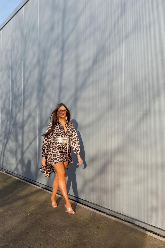 Mėlynos spalvos suknelė 9016