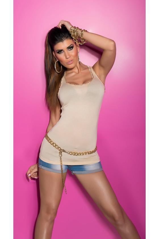 Geltonos spalvos megzta suknelė su dirželiu_172046